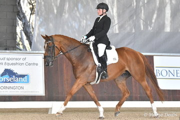 Claire Graham rode, 'Comtesse' to fifth place in the Equestrian Australia Para Equestrian CPEDN Grade IV Freestyle.