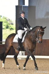 Matilda Carnegie rode, 'Devils Choccolate' to take second place in the Equestrian Australia Para Equestrian CPEDN Grade IV Freestyle.