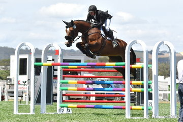 Steven Hill jumped clear and four riding his talented Conquistador mare, 'Yalambi's Bellini Star' to take third place in the Robertson-Smith Partners Equine Vets World Cup Qualifier.