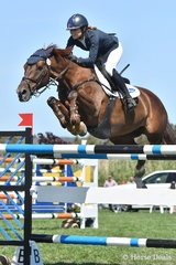 Jasmine Dennison's Melbourne Royal World Cup winner, 'Nicolossi' adopts an aerodynamic attitude on her way to tenth place in the Robertson-Smith Partners Equine Vets World Cup Qualifier.