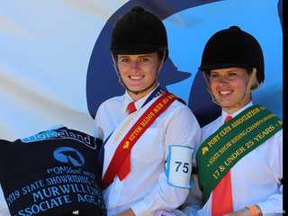 PCANSW State Show Riding Championships  17 and under 26 years Champion Charlee Anthony and Reserve Chloe Pacey Smith both from Zone 15