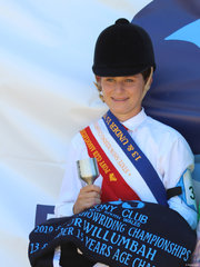 PCANSW State Show Riding Championships  13 and under 15 years Champion Ivy Pointen Wales