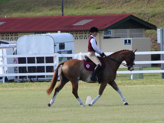 Mikaela Pohlner from Qld  winner of the Pony Club Mount