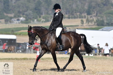 At the well attended Yarra Glen Show, now conducted at the Yarra Glen Pony Club Grounds, Taylor Thompson rode, 'Beckworth Magic Impression' to take second place in the Ring 2 class for Galloway 14.2-15hh.