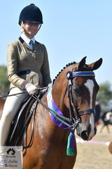 Emily Barton rode, 'Double Art' to claim the Hero class for Off The Track Standardbreds.