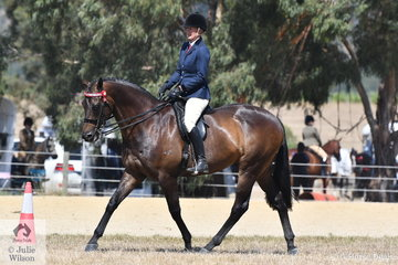 Katie Ramsay rode her, 'Inafrenzy' to win the Ring 2 class for Hack Over 16,2hh and  go on to claim the Hack Championship.