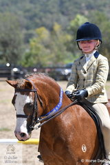 Grace Baines rode, 'Charmosa Jet' to win the class for Child's Show Hunter Pony.