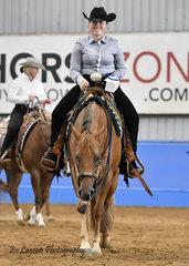 BONNIE GROSSO WINNING THE JUNIOR HORSE TRAIL ON SVQ GOOD CHARLOTTE