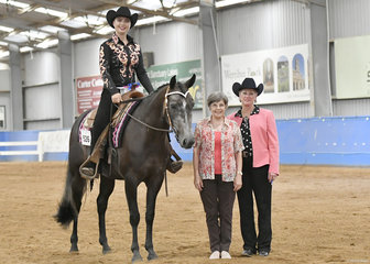 VICTORIAN CHAMPION CHRIS HOLMES RIDING SATCHMO'S MENSA CAT IN THE YOUTH 7-18 YEARS REINING
