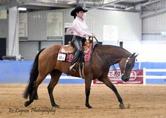 STEEL DOING IT, RIDEN BY REBECCA SALT INT HE AMATEUR WESTERN HORSEMANSHIP