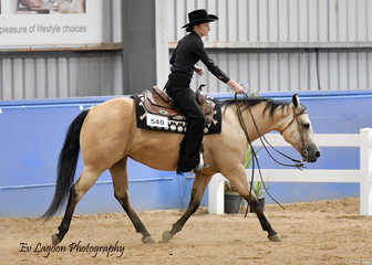 THIS CHICS NO WIMP RIDDEN BY REBECCA NIXON IN THE ALL AGE RANCH RIDING