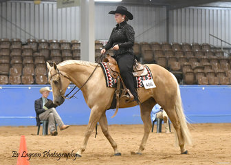 PASS THE SCOTCH RIDDEN BY BETHANY ALLEN IN THE NOVICE AMATEUR WESTERN HORSEMANSHIP