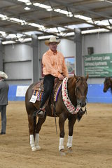 WINNER OF THE $500 OPEN REINING STAKES, WHIZZEL WITH ME AND RODNEY CONOLAN