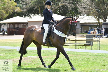 Natasha Moody rode Katie Ramsay's, 'Inafrenzy' to third place in the Child's Large Hack Championship.