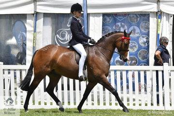 Georgiana Walsh took third place in the Peter Gahan Trophy riding class.