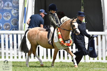 Milla Romeo rode and Sarah Romeo wrangled the delightul, 'Eagle Park Crystal Roulette' to claim third place in the 2019 Leading Rein Show Hunter Pony Championship.