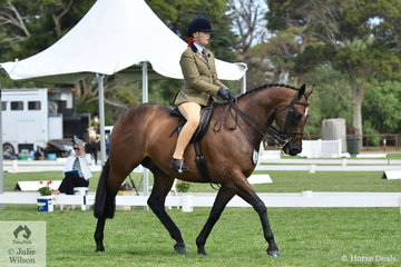 Amelia Sadler rode her well performed Show Hunter, 'Tarintino' to make Top 10 in the Child's Small Show Hunter Hack Championship.