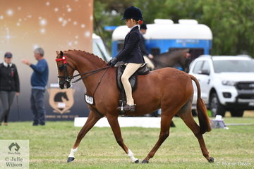 Estelle Gore-Johnson rode well to be declared Champion Rider Under 9 Years.