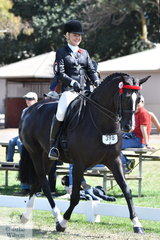 Stephanie Barrington rode her super, 'Rebelle' by Rodrigo (imp) to claim the Barastoc 50th Anniversary Celebration Show Rider over 25 Years Championship.