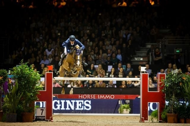 Germany's Daniel Deusser produced his third sensational win of the season at the 13th and last qualifier of the Longines FEI Jumping World Cup™ 2018/2019 Western European League in Bordeaux, France tonight riding Tobago Z. (FEI/Eric Knoll)
