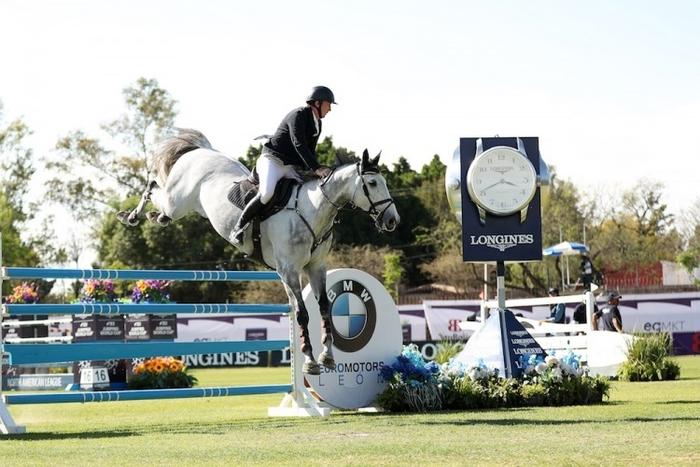 Jordan Coyle (IRL) and Eristov recorded a career-high victory at the Longines FEI Jumping World Cup™ North American League in Leon (MEX) on Saturday 9 February 2019. (FEI/Anwar Esquivel)
