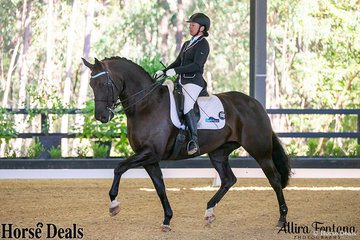 Rebecca Walsh and BHM Spanish Amor started their triathlon team off with a dressage score of 71.28%.