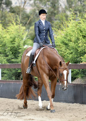 ANNETTE GREEN RIDING CP GUNNAHAVSUMFUN IN HUNTER UNDER SADDLE