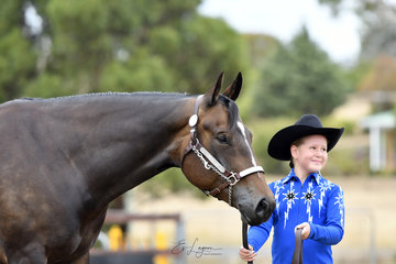 I'M GOOD N LAZY SHOWN BY AILIE MORGAN IN THE YOUTH SHOWMANSHIP