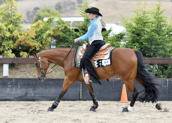 ANNALIESE KETTLE RIDING COWBOY CODE IN THE ALL AGE REINING