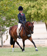 Ruby McAuliffe placed Top 10 in the Rider 6 & under 9 years event.
