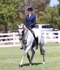 Champion Rider 21 & under 30 years Samantha McMaster.