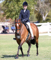 Working out in the Rider 15 & under 17 years event, India Lehman.