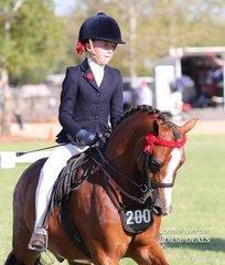 Champion Rider 9 years & under 12 years Jessica Sharp.