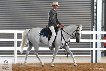 Lachie Sim produced a polished workout riding, 'Wildraft Tribute' to win the class for Stallion Five Years and Over, Over 15hh.