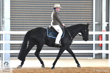 Sophie Howard rode her Labanjack Royal Encounter to second place in the 4 yr old Gelding Hack.