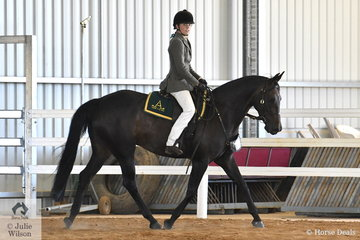 Seventeen year old Olivia Henzen just starting Year 12 in 2019 showed her older peers a clean pair of heels today.  Olivia rode  her 'Bushdrift Coolplay' to win the Working Gelding and go on to claim the Senior Working Championship and then take out the 8th Light Horse Supreme Exhibit Under Saddle.