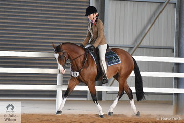 The Prithard family's, 'Tocal Indigo' is pictured during the Hack Challenge. The Hack Challenge involved the best score after completing two hack patterns and one dressage test.