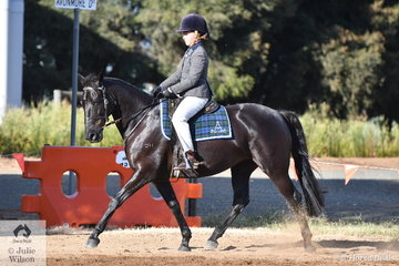 Maddie Fullgrabe rode her, 'Heathville Sparkle' to win the class for Junior Hack Rider Under 13 Years. Maddie and Sparkle went on to take out the B and J Mills Fencing award for High Point Junior Under 13 Years.