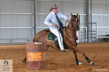The Pritchard Family's, 'Tocal Notes and Lyrics' is pictured during the Time Trial section of the Terragan and Tambeau Stud's Open Challenge.