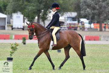 Nominated by the Crawford Twins,  'Braeburn Park Spring Dance', ridden by Annabelle Richardson won the class for Novice Pony 12-12.2hh and went on to be declared Best Novice Small Pony.