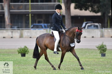 Jacinda Smith took second place in the class for Novice Pony 12.2-13hh with her, 'Merivale Park Remembrance'.
