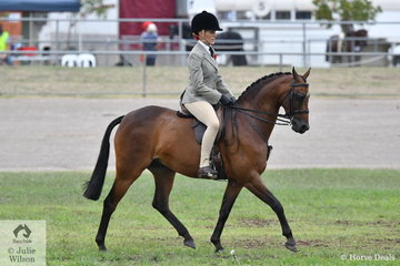Chanele Hunter-Cooke rode Jodi Allen-O'Sullivan's, 'Manorvale Pop Rock' to take second place in the class for Novice Show Hunter Pony12.2-13hh.