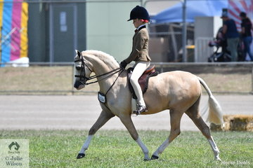 Elsie Cooper rode her delightful, 'Bellgarra Emirants' to win the class for Show Hunter Pony 12-12hh and went on to take out the Small Show Hunter Pony Championship.