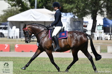 Zali Petersen rode her own and Pam Farragher's, 'ESK Versace' to win the Best Presented ANSA and the class for Ridden ANSA over 16hh. They went on to be declared Champion Ridden ANSA.