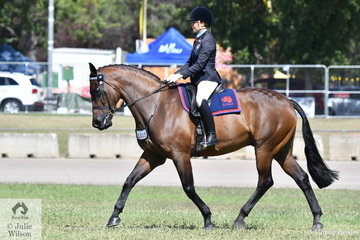 Stephanie O'Connor rode her own and Tess O'Connor's, well performed, 'D'Artgnan' to take out the Ridden ANSA Reserve Championship.