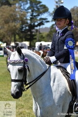 Madeleine Gaden rode her , 'Bellevale In The Moment' to win the class for Girl Rider 7 AU 9 Years.