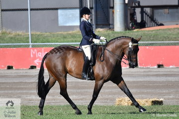 Tess O'Connor, second in the class for Lady Rider 18 AU 21 came in for and claimed the Reserve Champion Lady Rider title.