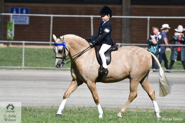 Chase Jackson turned 8 today. He won the class for Boy Rider 7 AU 9 Years and is pictured aboard the delightful, 'Elvonara Park Kandyman' during the Supreme Junior Rider ride off. He didn't get the nod, but he did steal the show.