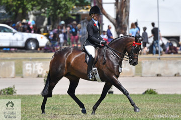 Margot Haynes is pictured with her own, David Quayle and Emily Murray nomination and Hack Mare winner, 'Royal Highness'.