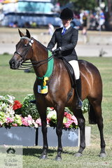 Kelsey Bennett claimed the Ridden Thoroughbred Reserve Championship with her Over 16hh Mare wiinner, 'Undermine'.